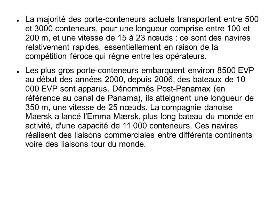 Le porte conteneur l 39 instrument de la mondialisation - Le plus gros porte conteneur de chez maersk ...