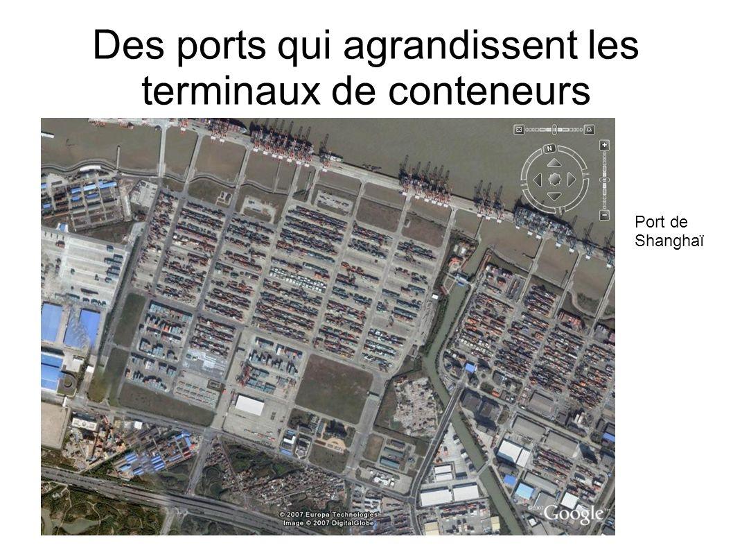 Des ports qui agrandissent les terminaux de conteneurs