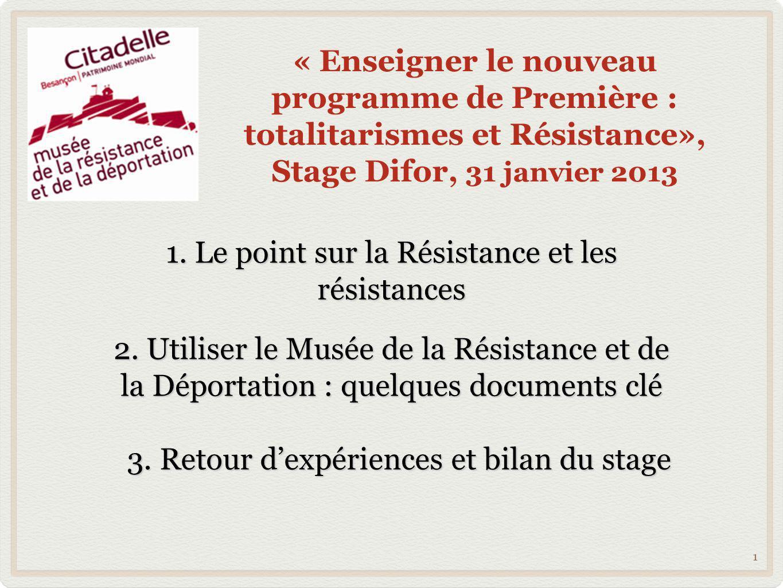 1. Le point sur la Résistance et les résistances