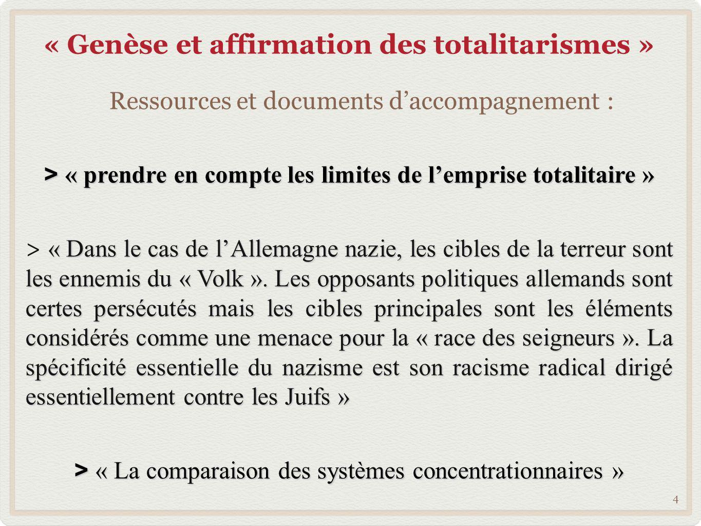 « Genèse et affirmation des totalitarismes »