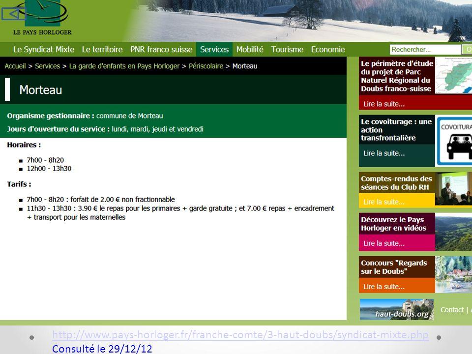 29/12/12 http://www.pays-horloger.fr/franche-comte/3-haut-doubs/syndicat-mixte.php.
