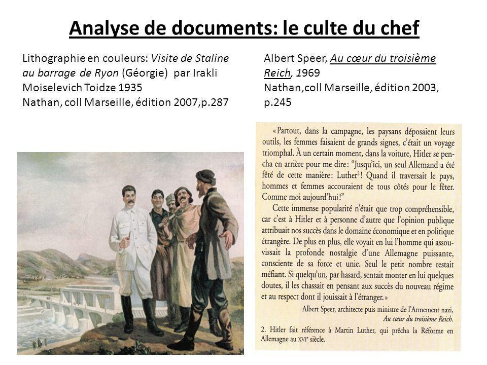 Analyse de documents: le culte du chef