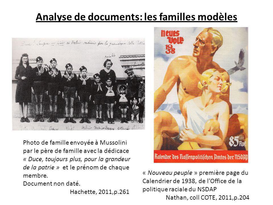 Analyse de documents: les familles modèles
