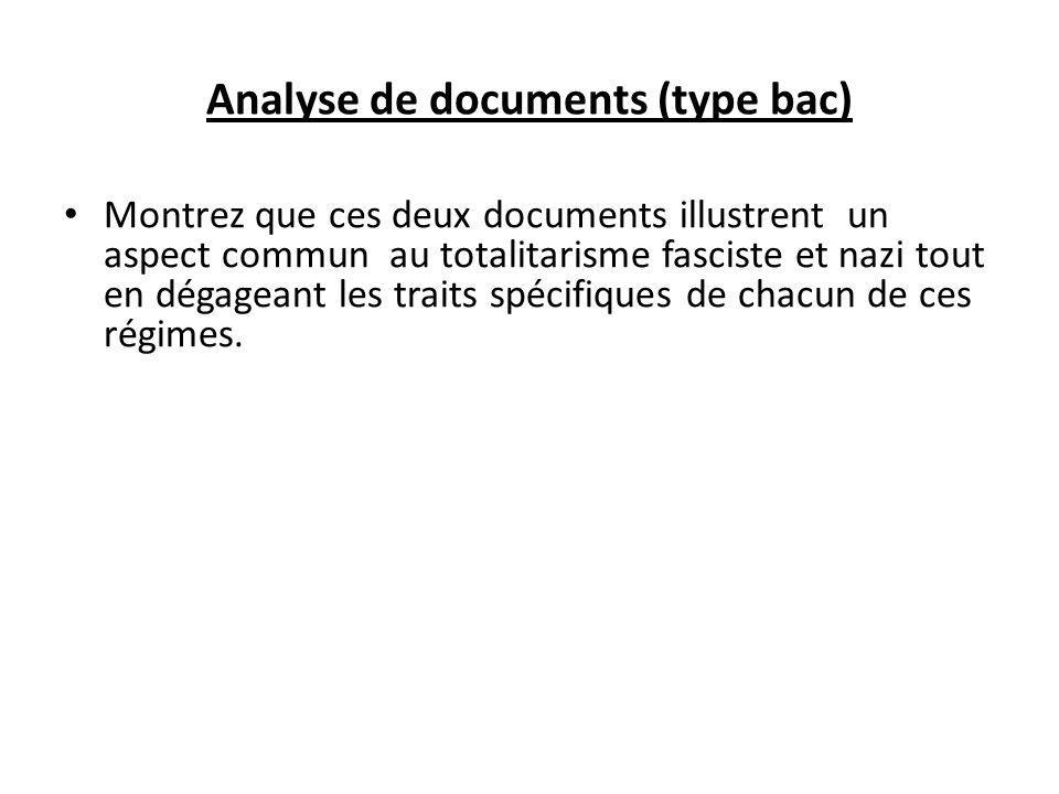 Analyse de documents (type bac)