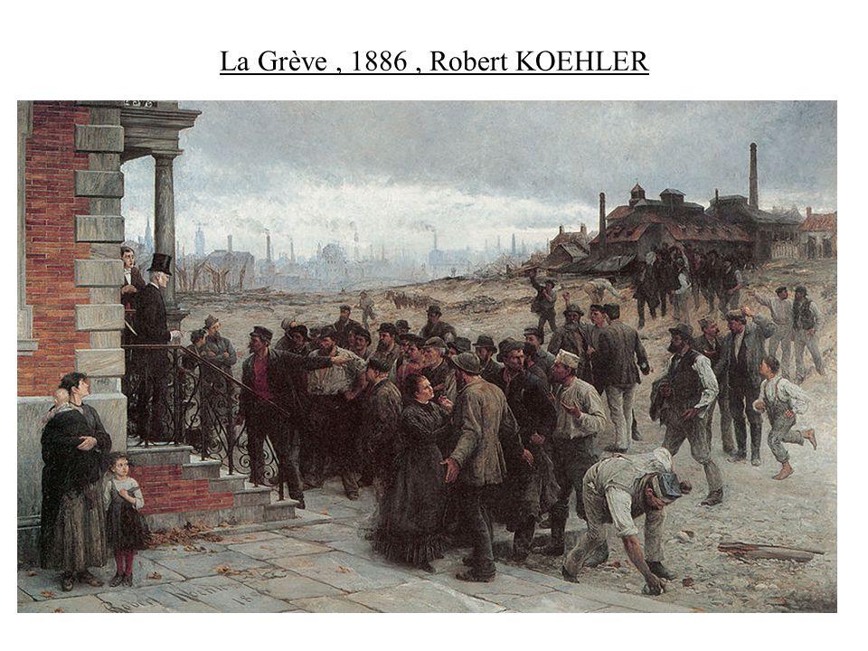 La Grève , 1886 , Robert KOEHLER