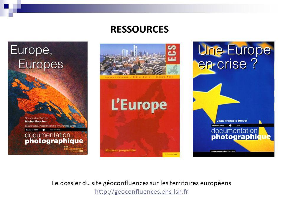 Le dossier du site géoconfluences sur les territoires européens