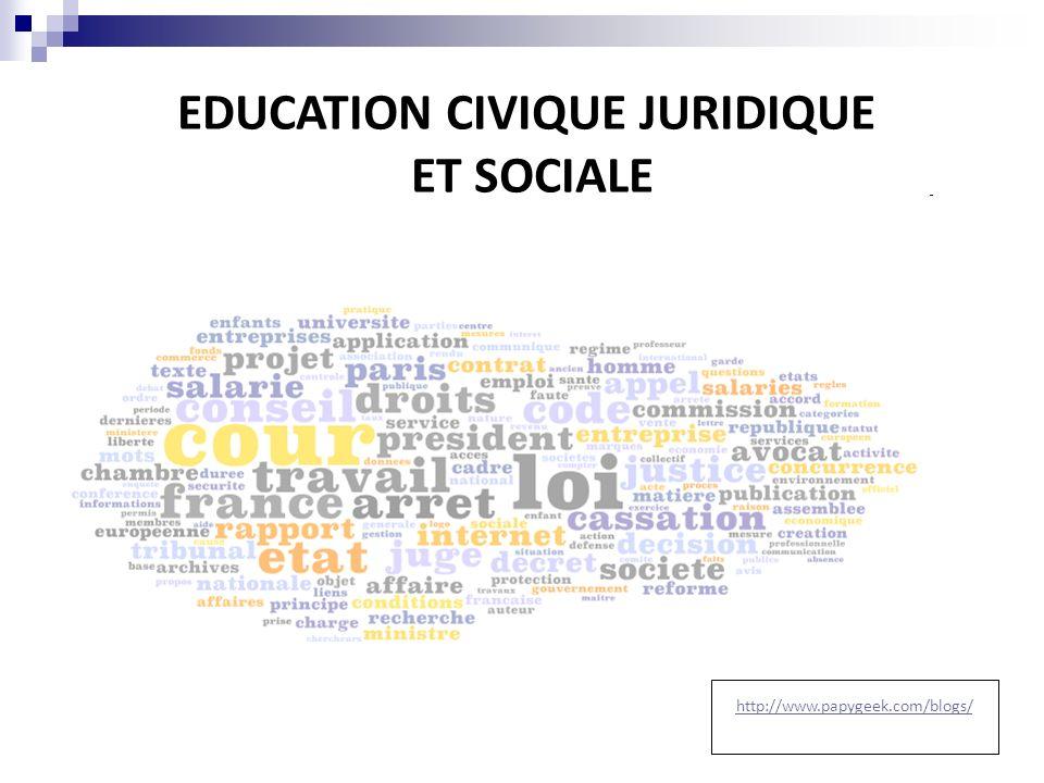 EDUCATION CIVIQUE JURIDIQUE