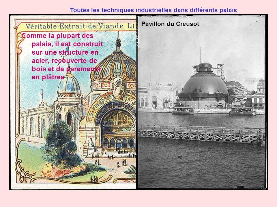 Toutes les techniques industrielles dans différents palais