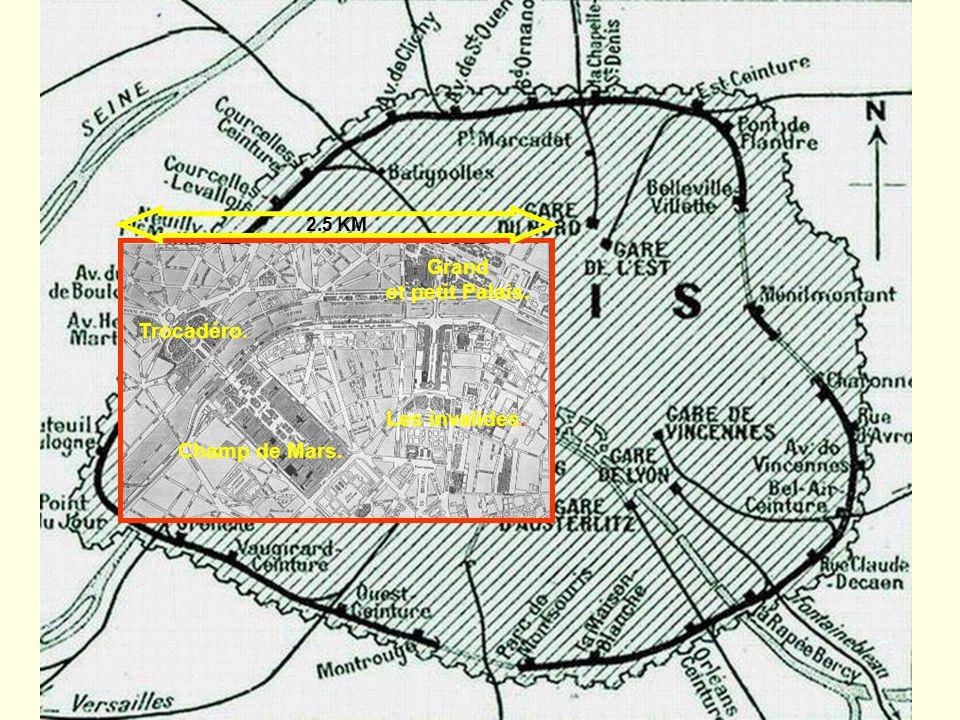 2.5 KM Grand et petit Palais. Trocadéro. Les invalides. Champ de Mars.