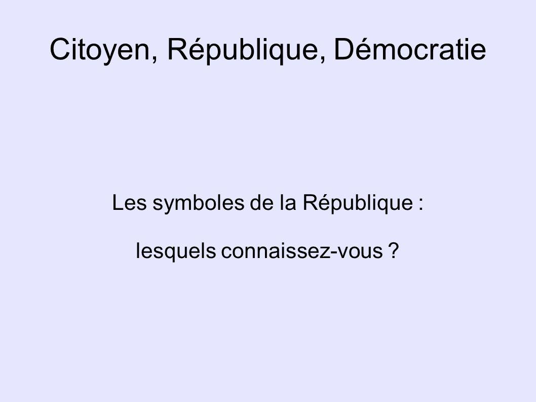 Citoyen, République, Démocratie
