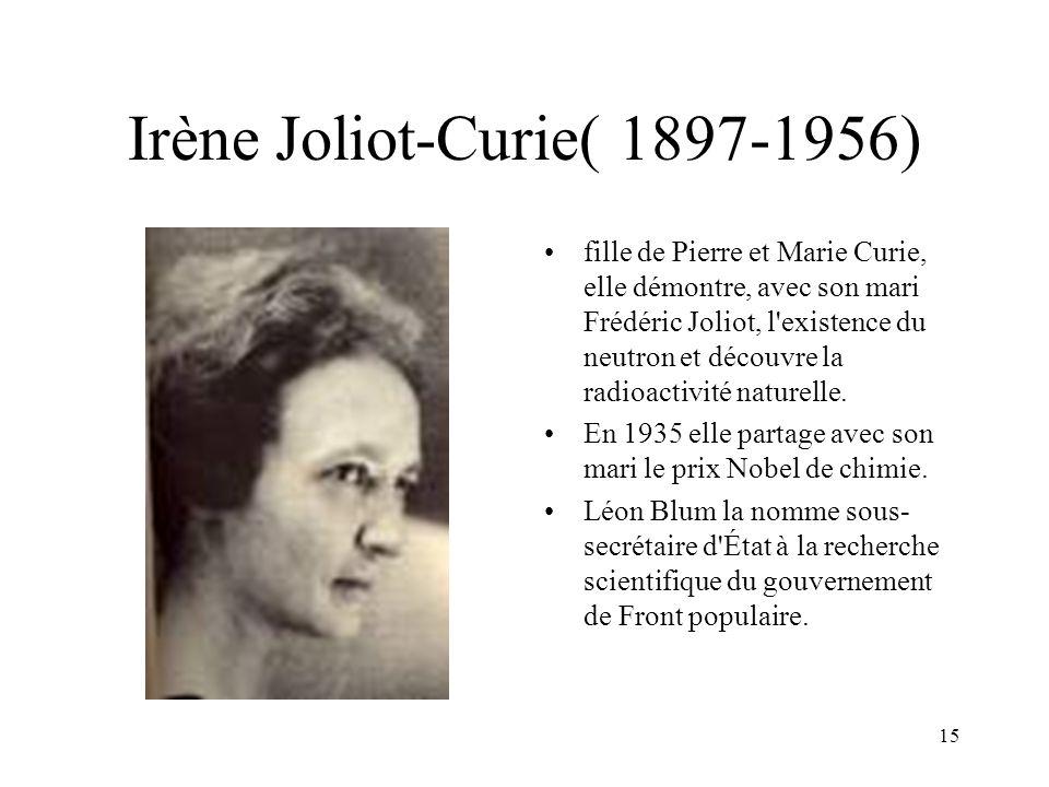 Irène Joliot-Curie( 1897-1956)