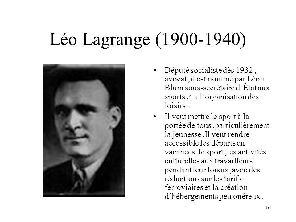 Léo Lagrange (1900-1940)