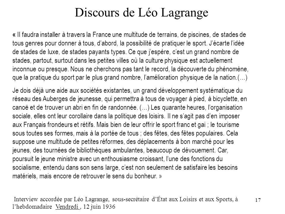 Discours de Léo Lagrange