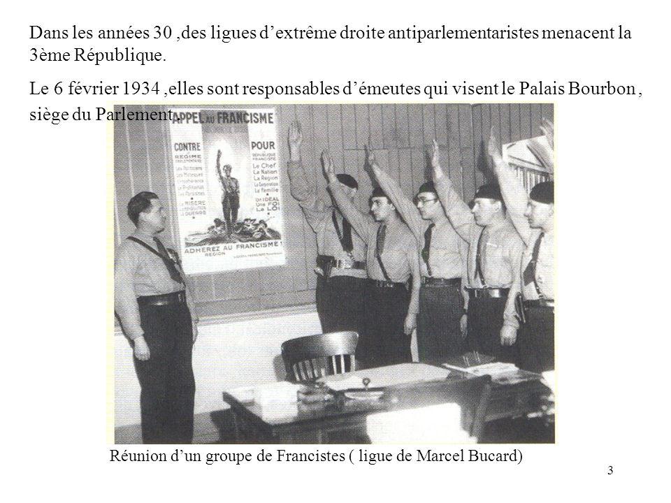 Réunion d'un groupe de Francistes ( ligue de Marcel Bucard)