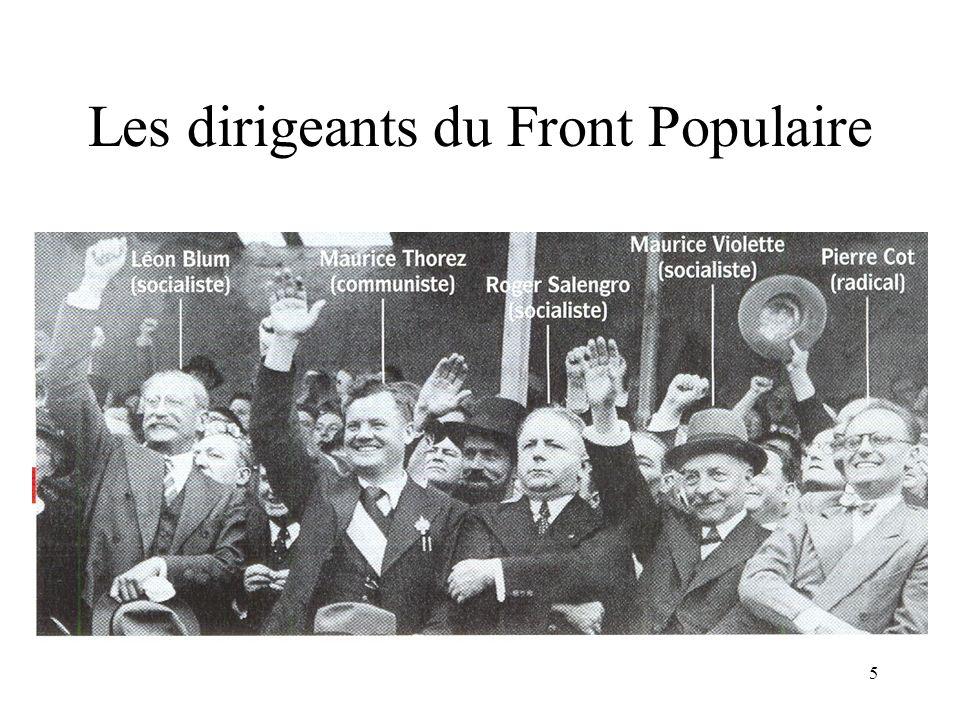 Les dirigeants du Front Populaire