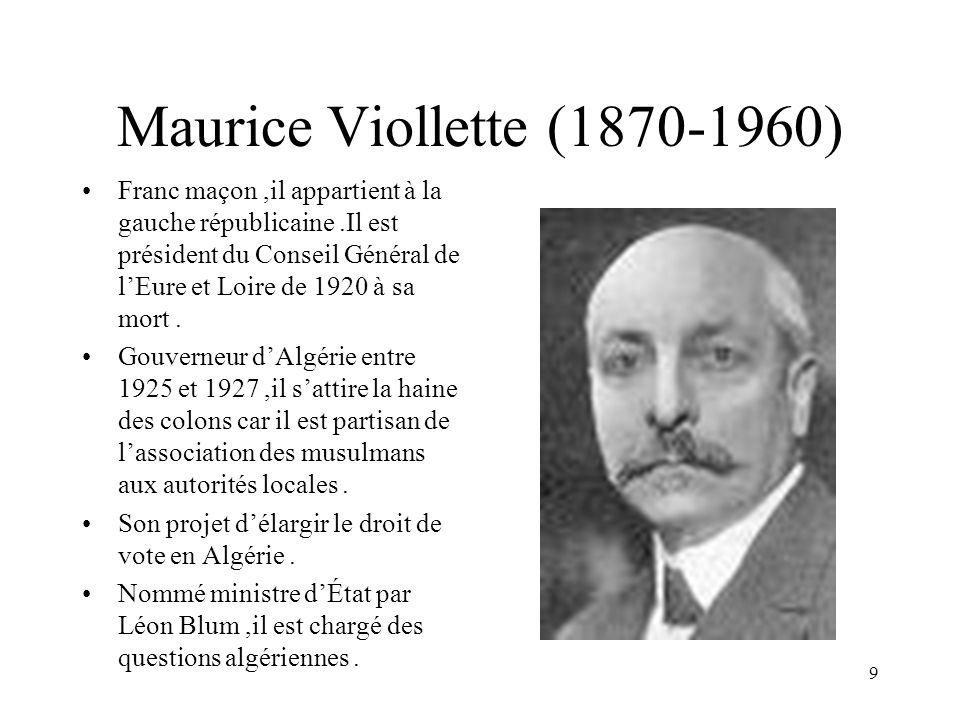 Maurice Viollette (1870-1960)