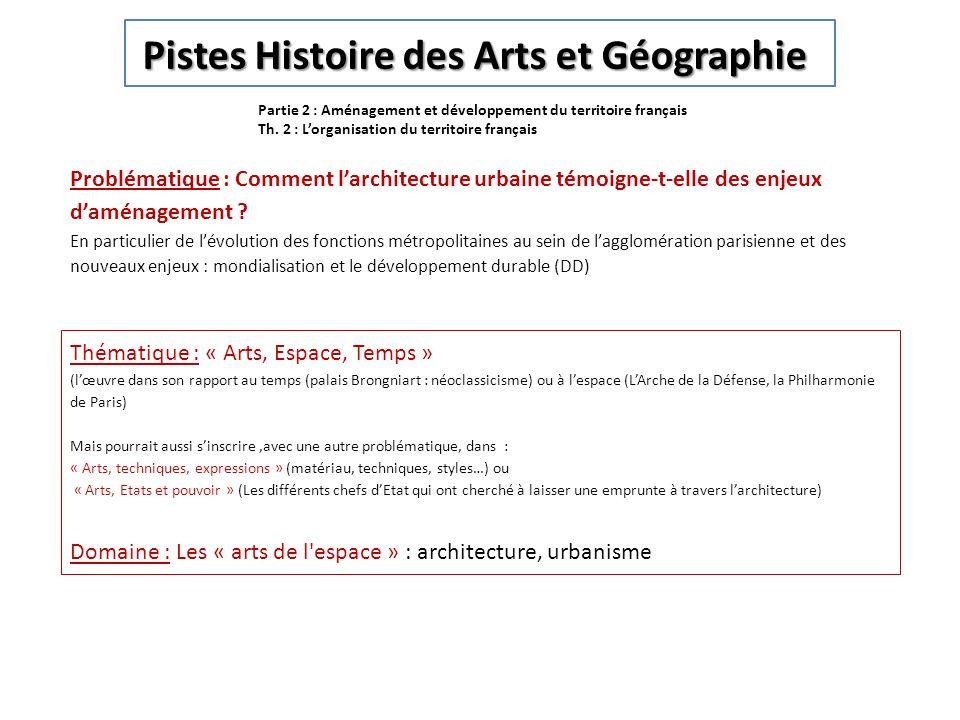 Pistes Histoire des Arts et Géographie