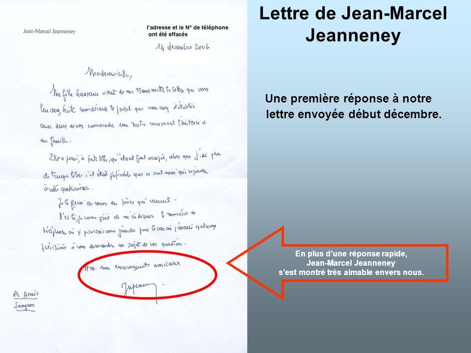 Lettre de Jean-Marcel Jeanneney
