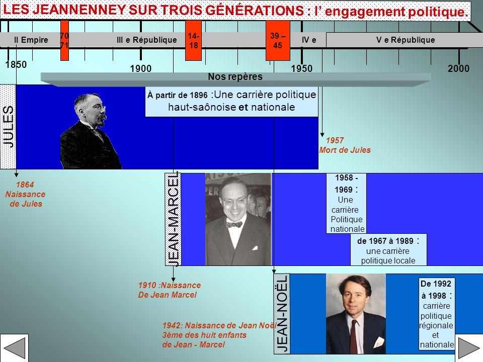 LES JEANNENNEY SUR TROIS GÉNÉRATIONS : l' engagement politique.