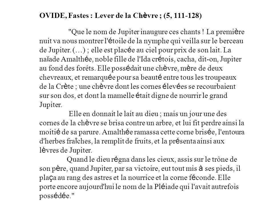 OVIDE, Fastes : Lever de la Chèvre ; (5, 111-128)
