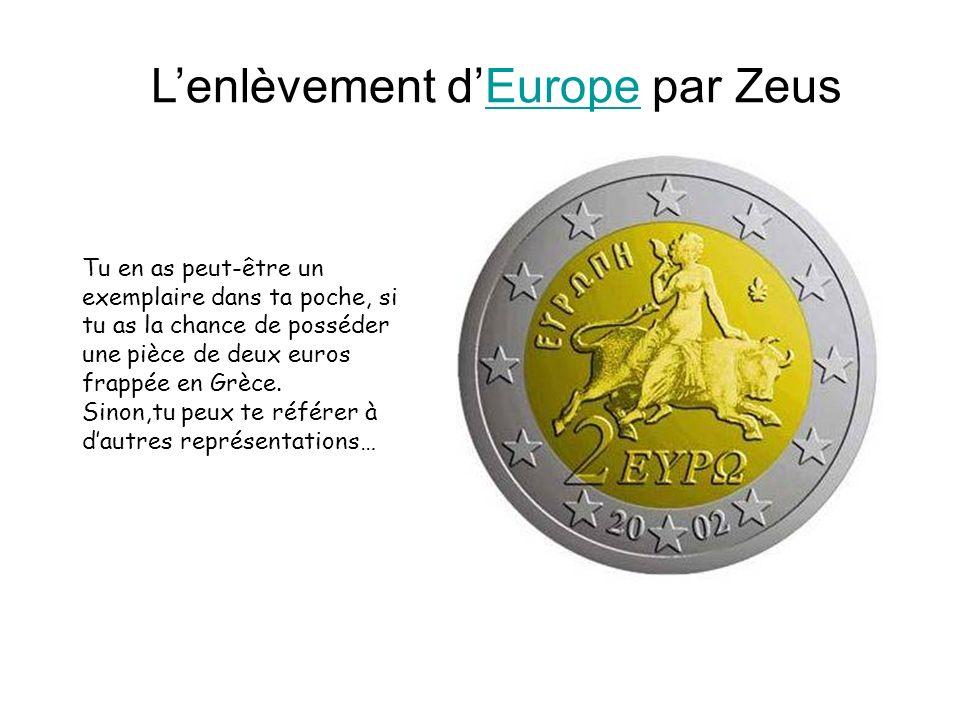 L'enlèvement d'Europe par Zeus