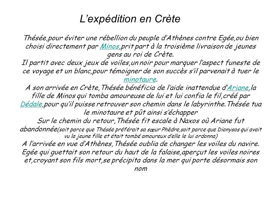 L'expédition en Crète