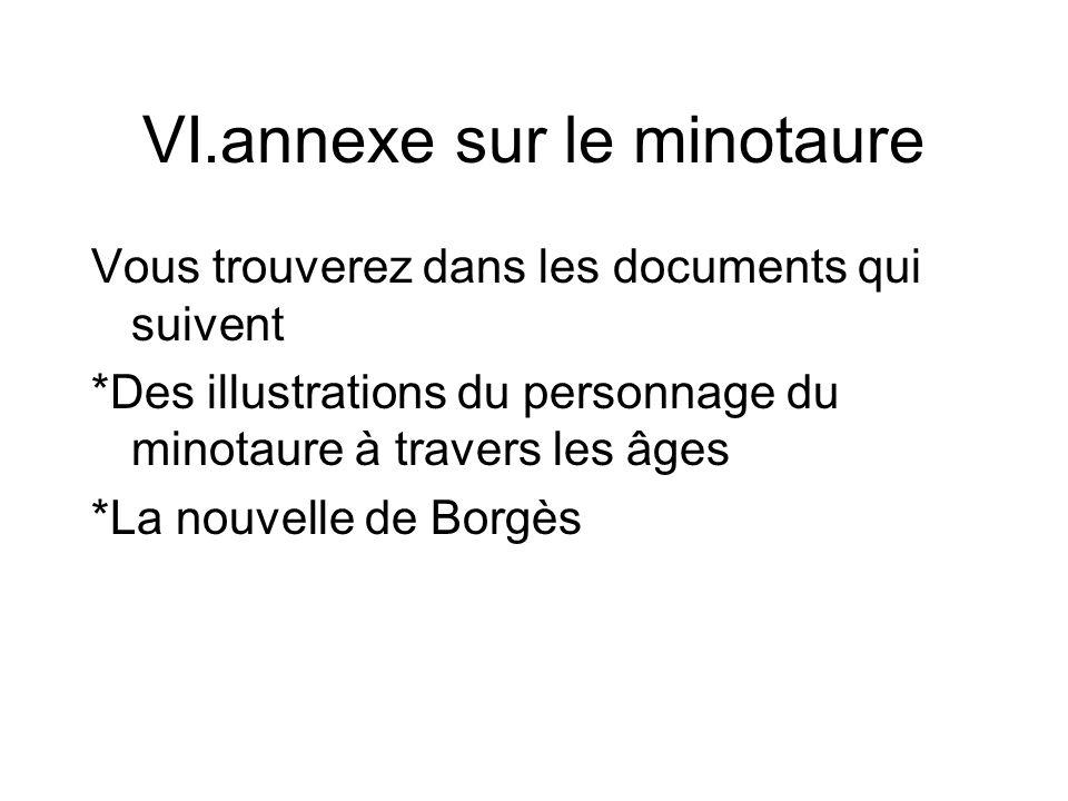 VI.annexe sur le minotaure