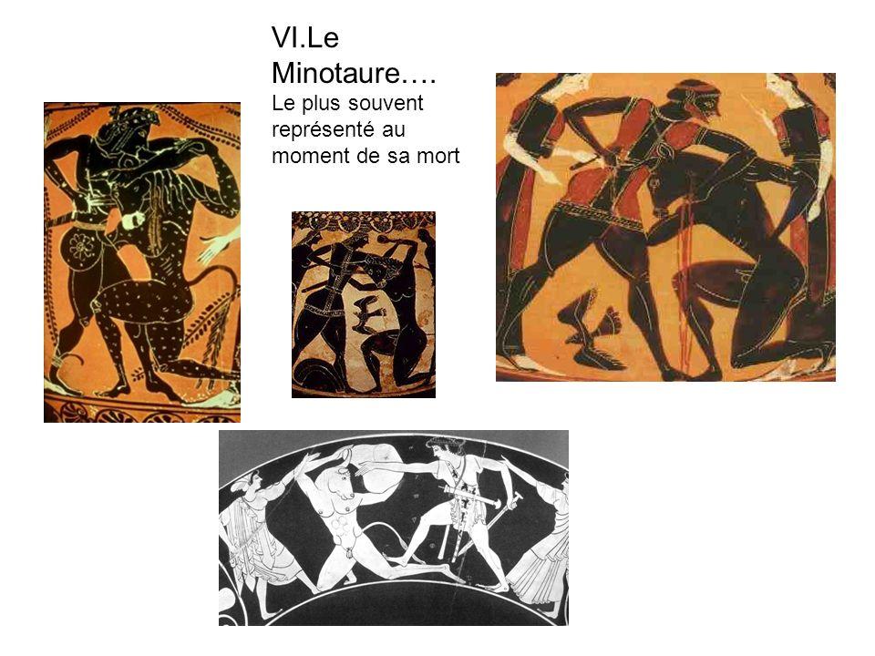 VI.Le Minotaure…. Le plus souvent représenté au moment de sa mort
