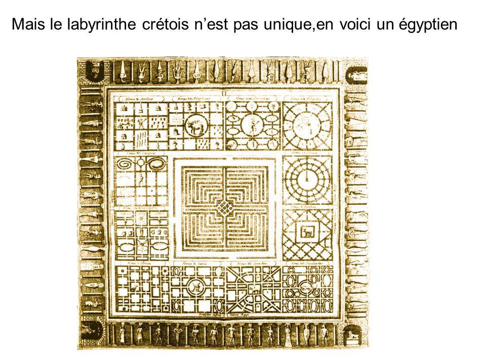 Mais le labyrinthe crétois n'est pas unique,en voici un égyptien