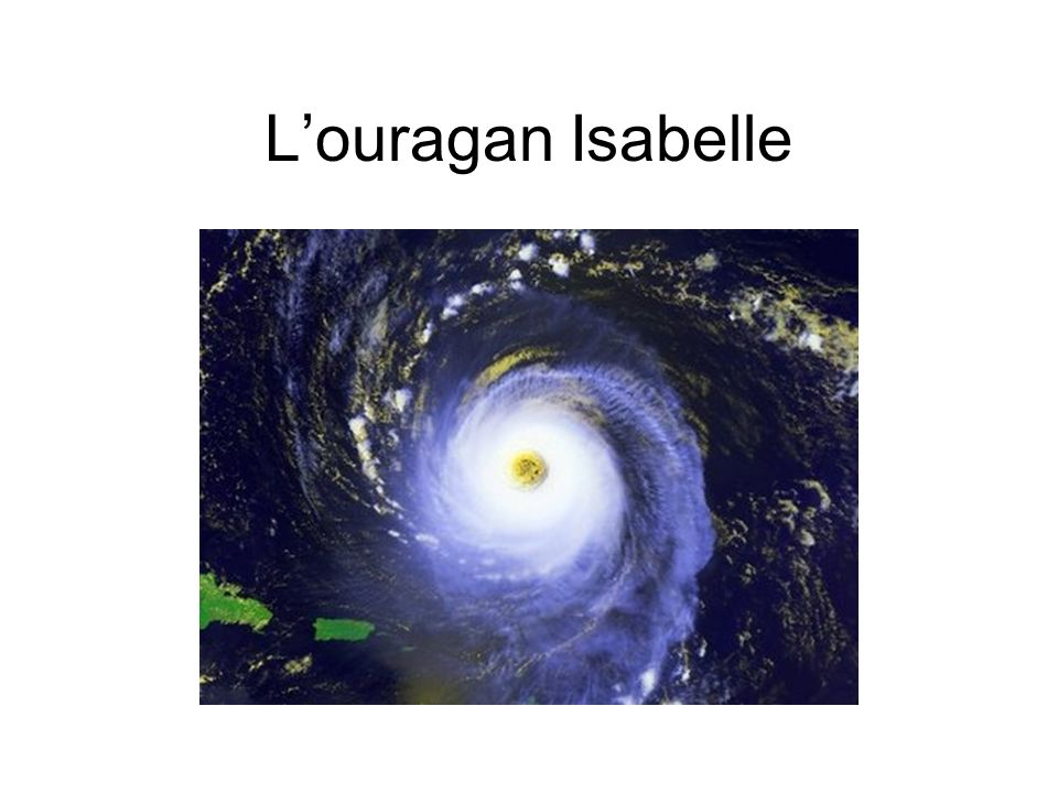 L'ouragan Isabelle