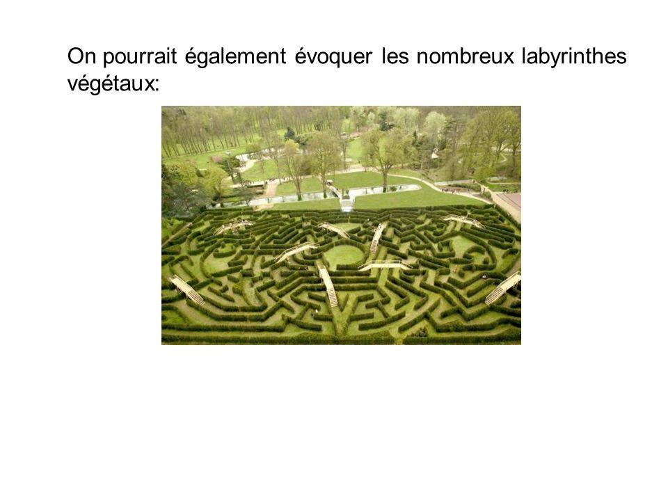 On pourrait également évoquer les nombreux labyrinthes