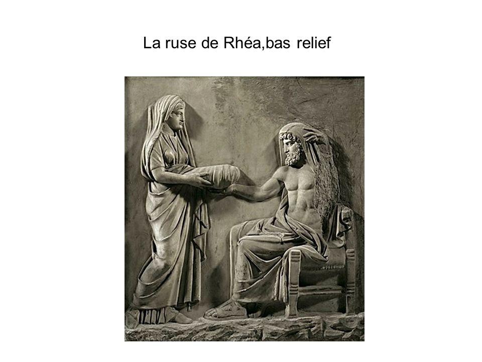 La ruse de Rhéa,bas relief