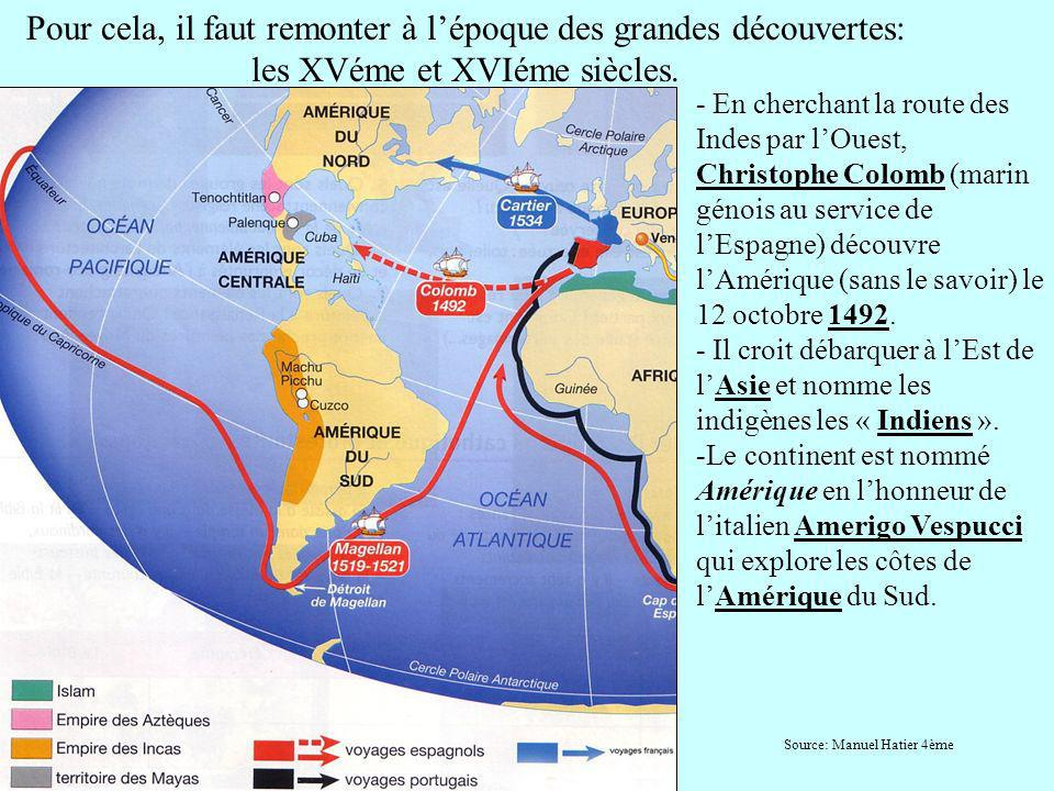 Pour cela, il faut remonter à l'époque des grandes découvertes: les XVéme et XVIéme siècles.