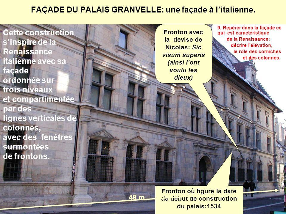 FAÇADE DU PALAIS GRANVELLE: une façade à l'italienne.