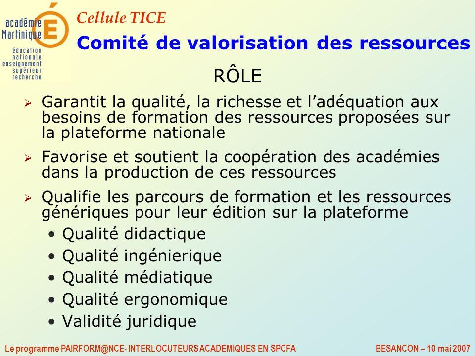 Comité de valorisation des ressources