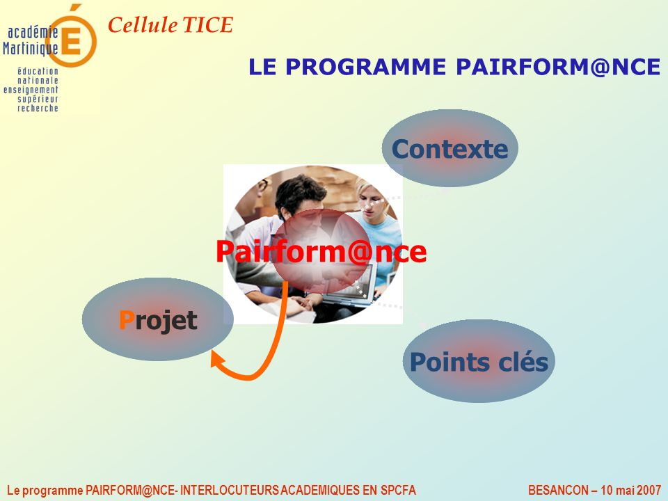LE PROGRAMME PAIRFORM@NCE