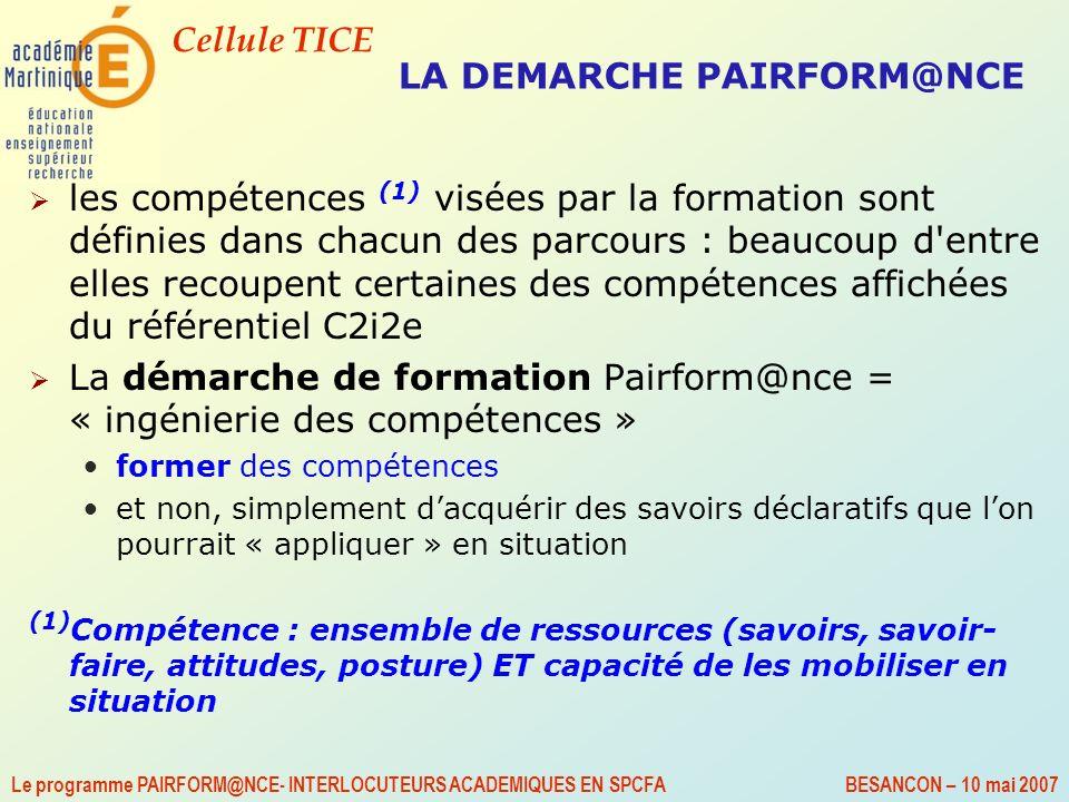 LA DEMARCHE PAIRFORM@NCE