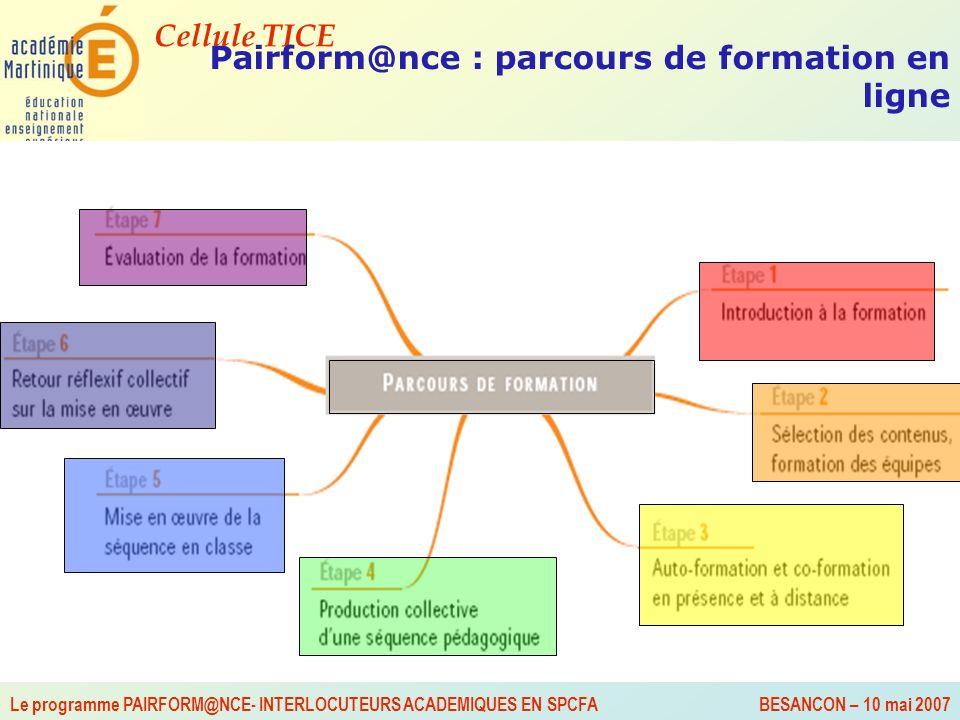 Pairform@nce : parcours de formation en ligne
