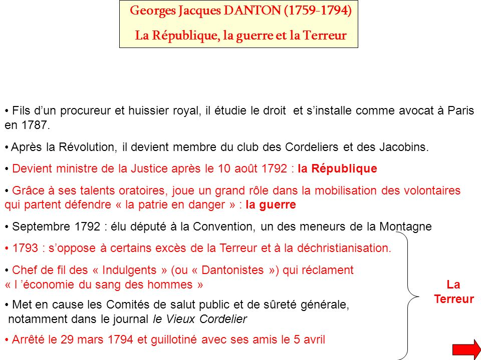 Georges Jacques DANTON ( )