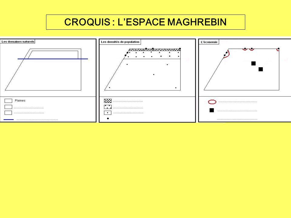 CROQUIS : L'ESPACE MAGHREBIN