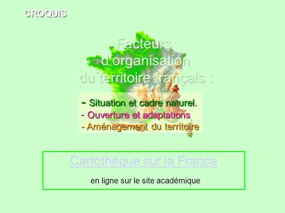 Cartothèque sur la France en ligne sur le site académique