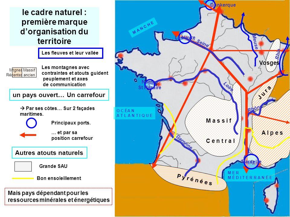 le cadre naturel : première marque d'organisation du territoire