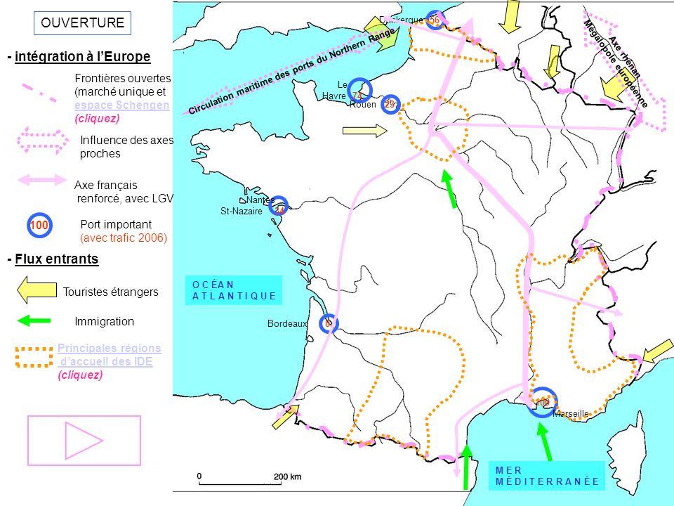 Mégalopole européenne Circulation maritime des ports du Northern Range