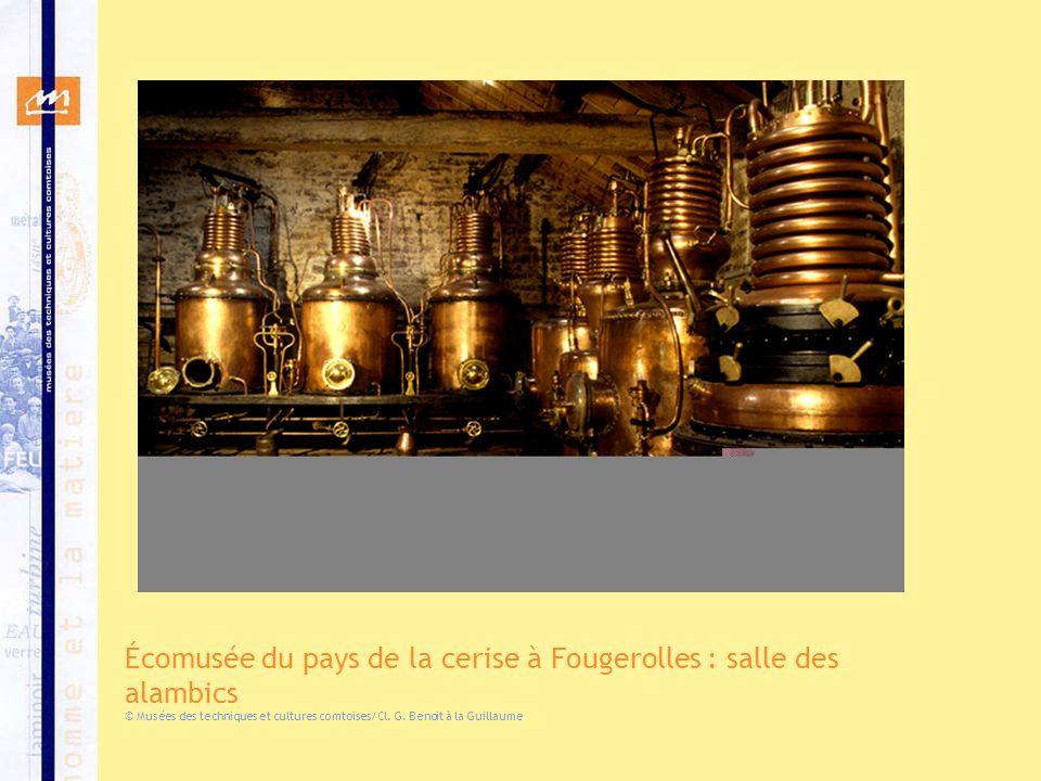Écomusée du pays de la cerise à Fougerolles : salle des alambics
