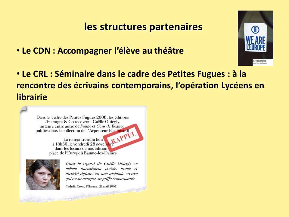 les structures partenaires