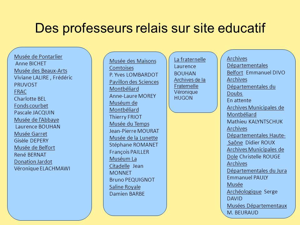 Des professeurs relais sur site educatif