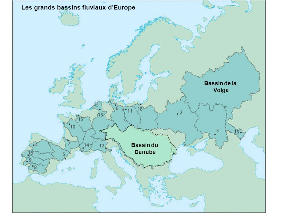 Les grands bassins fluviaux d'Europe