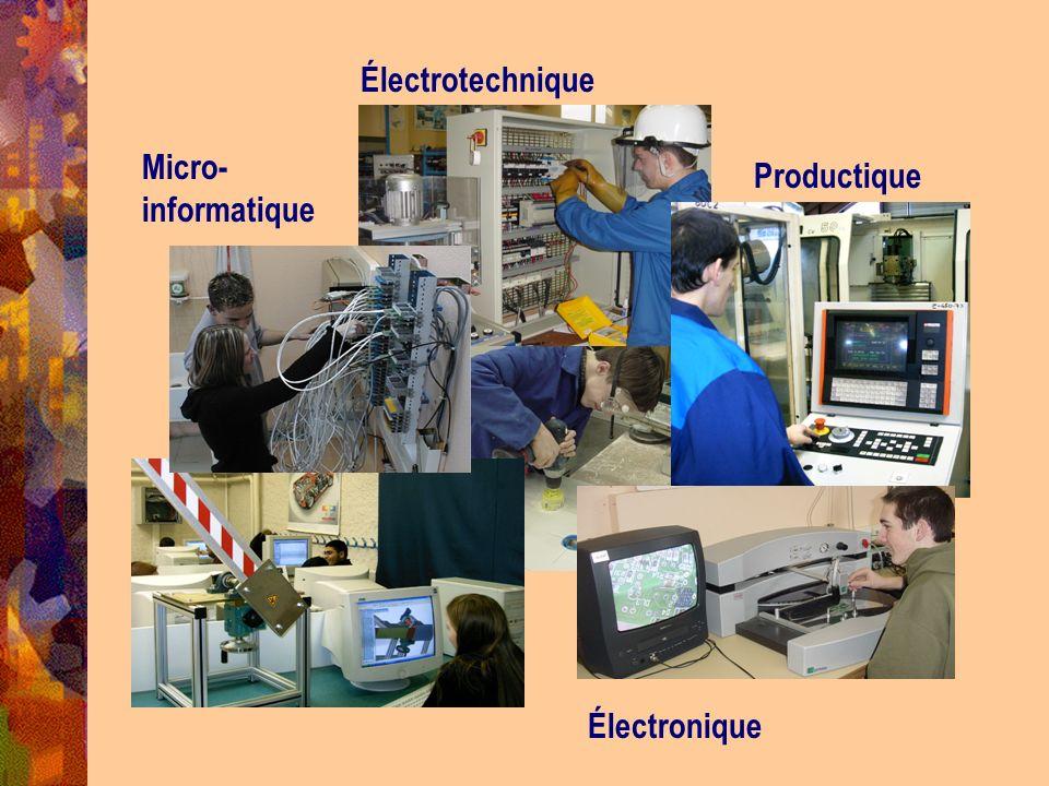 Électrotechnique Micro-informatique Productique Électronique