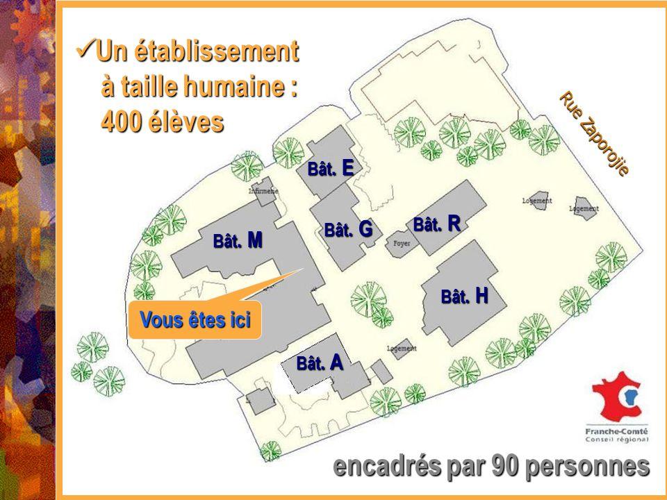 Un établissement à taille humaine : 400 élèves
