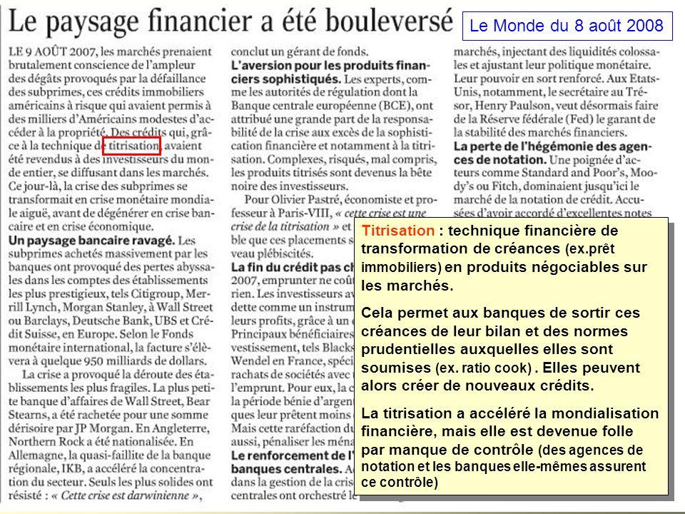 Le Monde du 8 août 2008